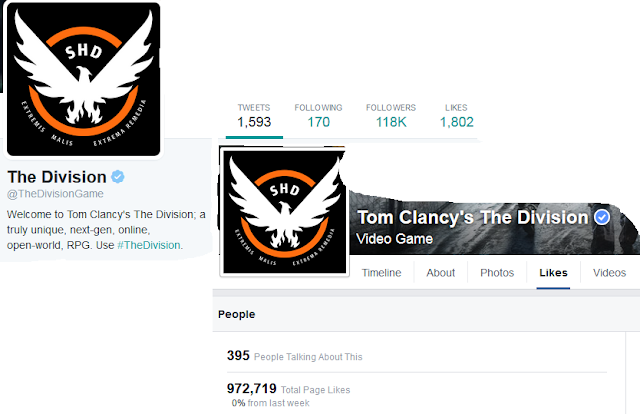 Tom Clancy's The Division Facebook Twitter Ubisoft likes followers official social media