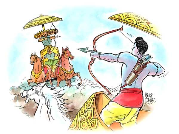 Ram And Ravan War Images on Dasara