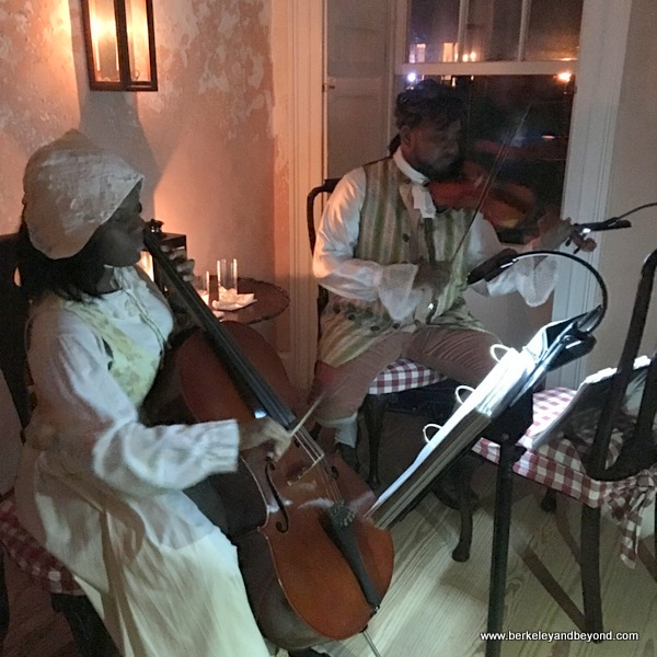 musicians at the George Washington House Museum in Bridgetown, Barbados
