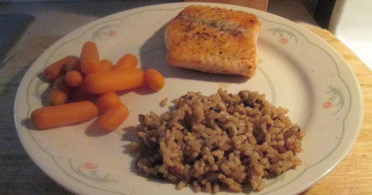 Diab2cook Baked Salmon W Wild And Long Grain Rice And