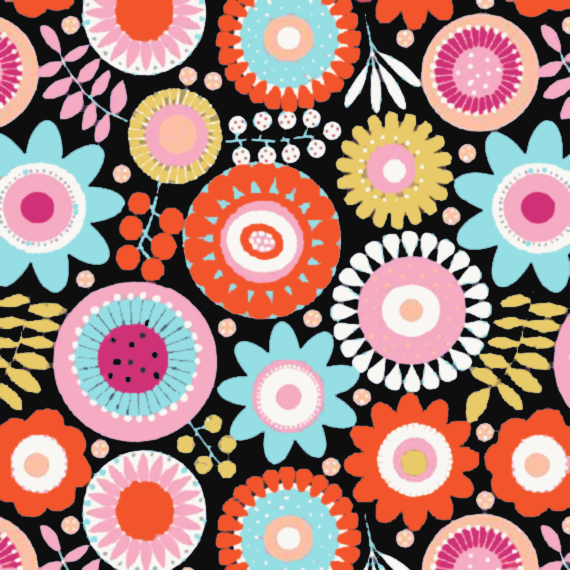 flower power, seventies style patterns