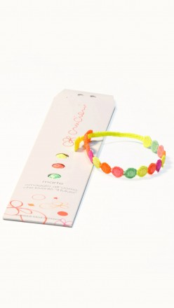 packaging braccialetti cruciani marte multicolor fluo
