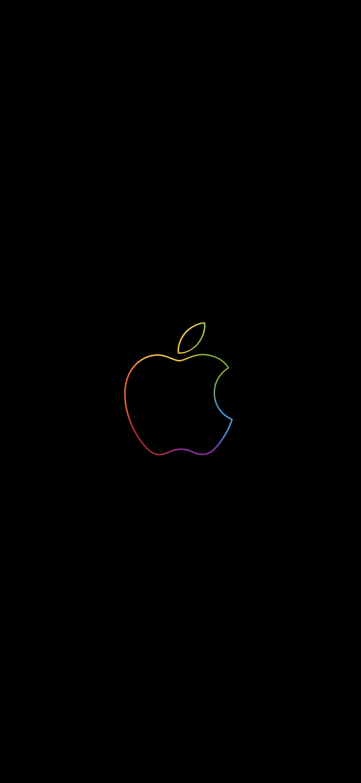 We'll be right back Apple logo Wallpaper [iPhone all version]