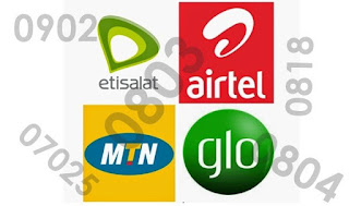Nigeria Networks and Their Number Prefix  -0809,0813,0909