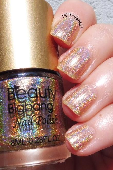 Smalto olografico nude Beauty BigBang 04 nude holo polish #nails #unghie #holographic #beautbigbang #lightyournails