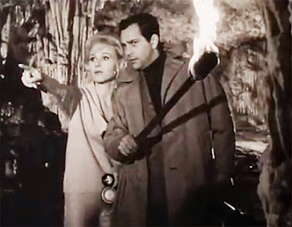 Karin Field and Adrian Hoven in Cave of the Living Dead (1964)