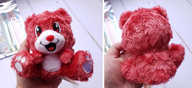 Scentco's Smanimals Strawberry Teddy Bear from the front and back