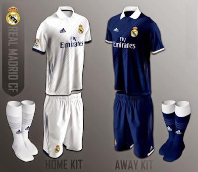 Penampilan Jersey Kandang Real Madrid Musim 2016 - 2017