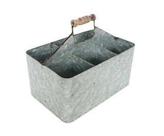 vintage galvanized carry all
