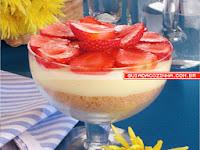 Imagem da receita especial e maravilhosa de pave de morango e chocolate branco - Guia na Cozinha