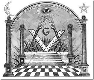 Imagem satânica de templo maçom