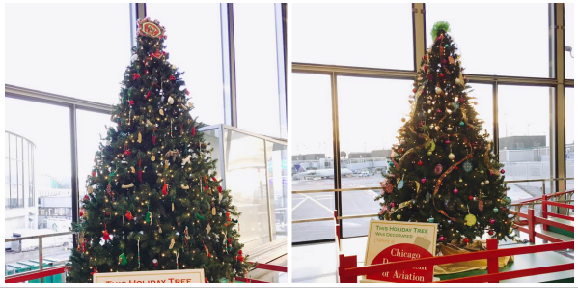 Christmas trees at ORD