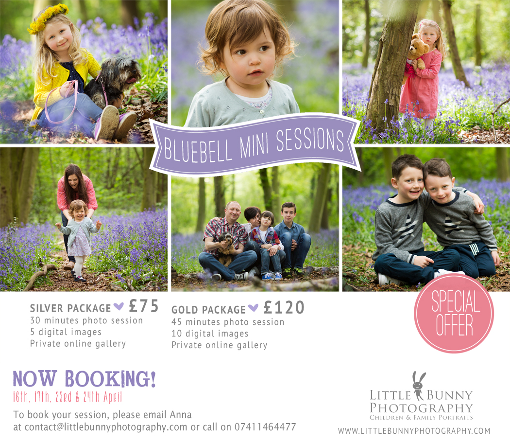 Woodford Loughton Chigwell Bluebell portrait photography
