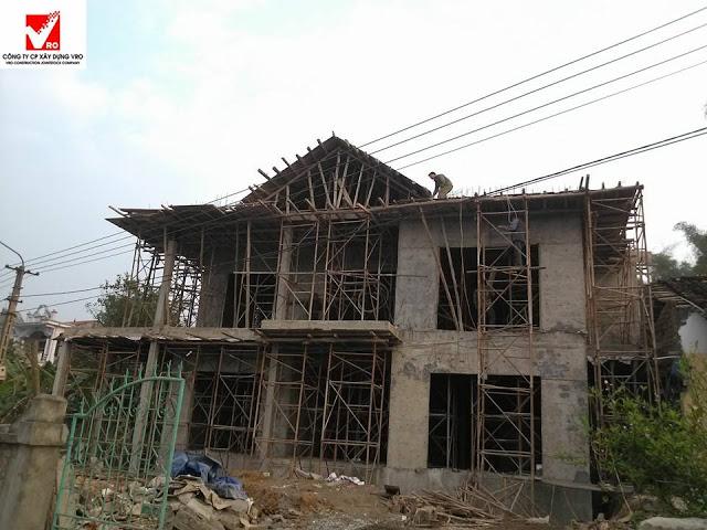 Thi công nhà beton cốt thép 3d