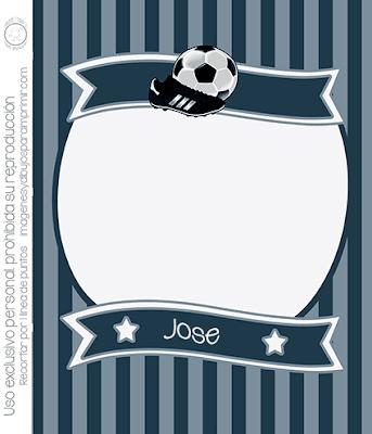 Invitación de fútbol para imprimir