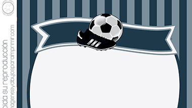 Fútbol invitacion para imprimir