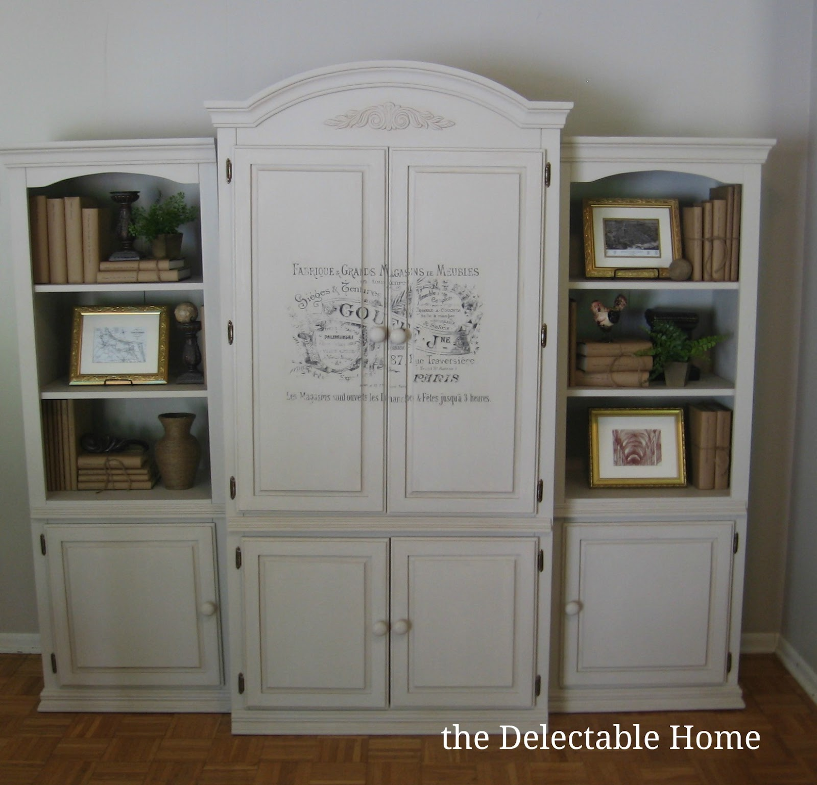 The Delectable Home: chalk paint armoire