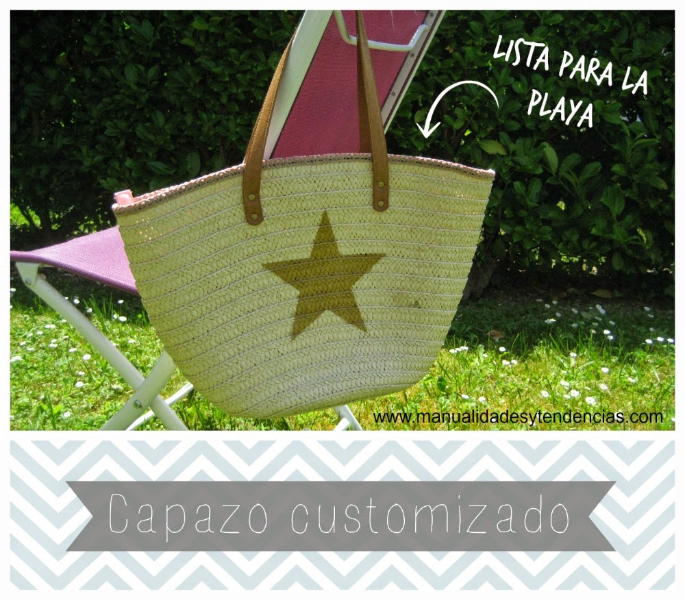 capazo playero customizado / customized beach bag