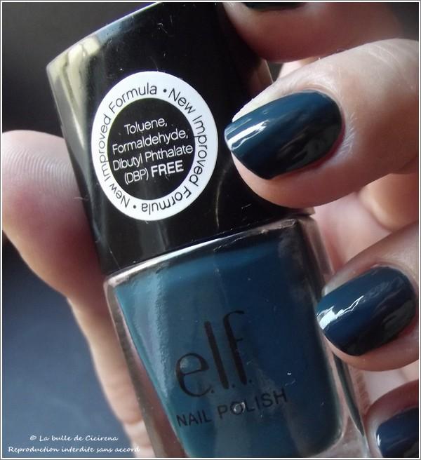 High Tide (#25125), vernis bleu canard, elf, vernis 3 free