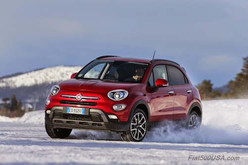 Fiat 500X in Snow - European version