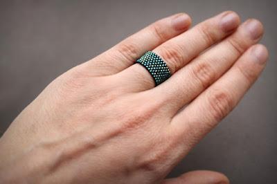 женские широкие кольца 19 размера купить в интернет-магазине бижутерии из бисера
