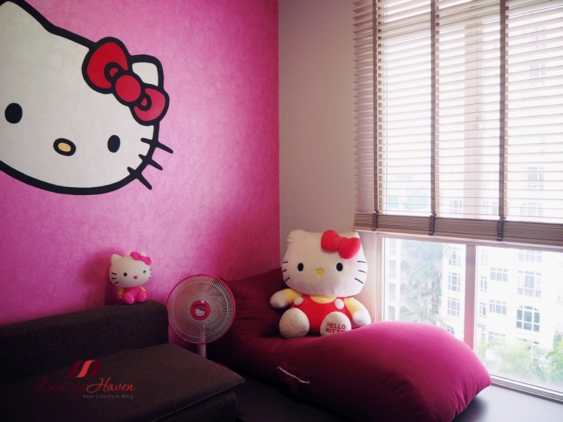 singapore lifestyle blogger nippon paint hello kitty room