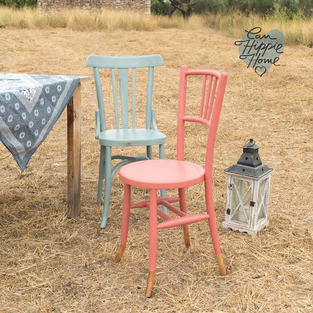 Sillas de madera de colores - Muebles de Can Hippie Home-2