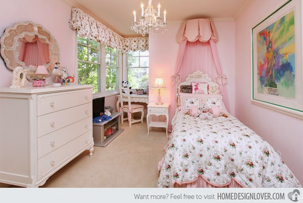 Hogares frescos 15 ideas para vestir tu cama en - Camas de princesas para nina ...