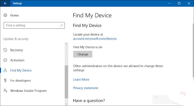 ميزة ,Find my device