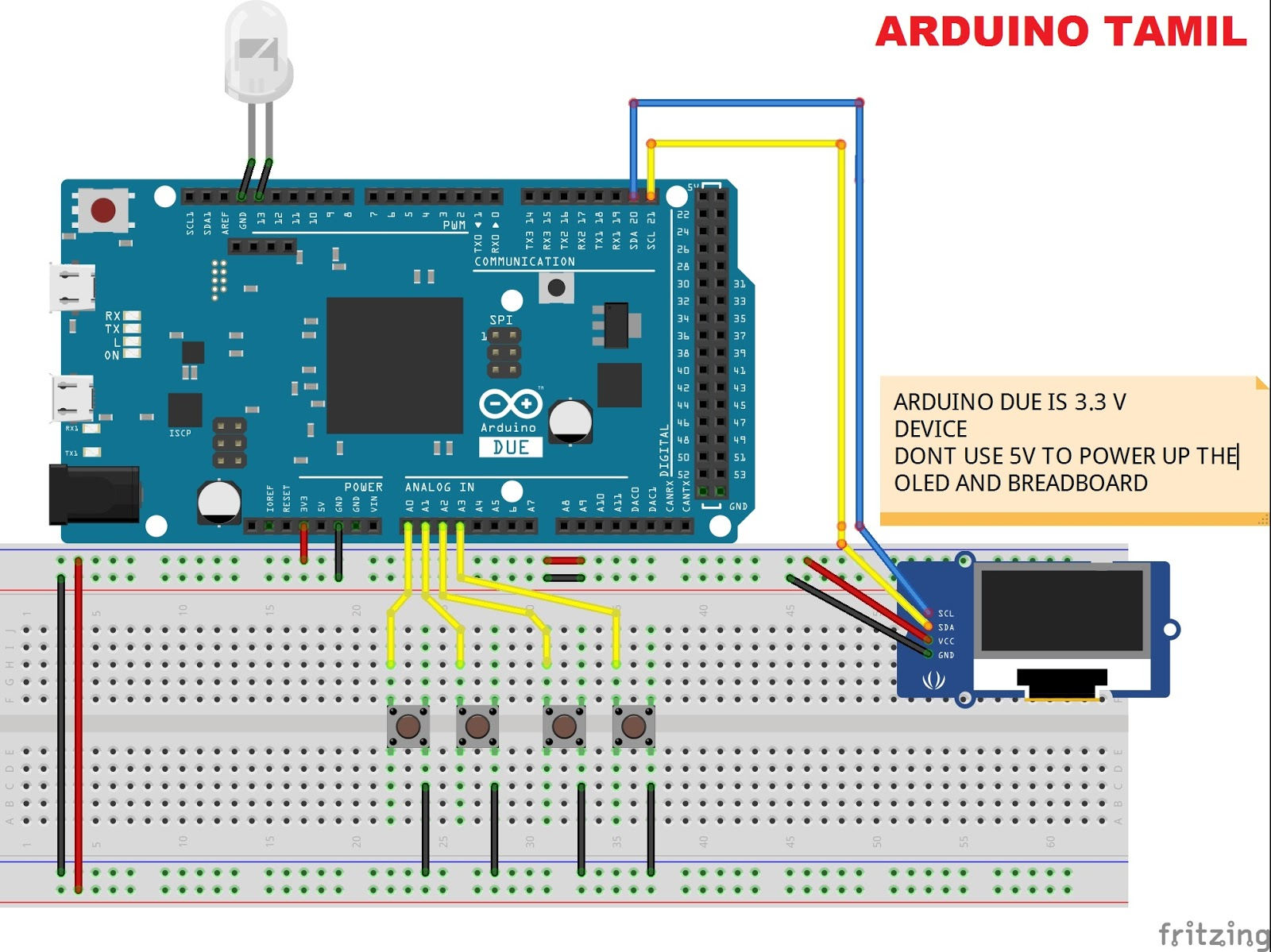 Arduino menu using m tklib and i c oled ssd arduinotamil
