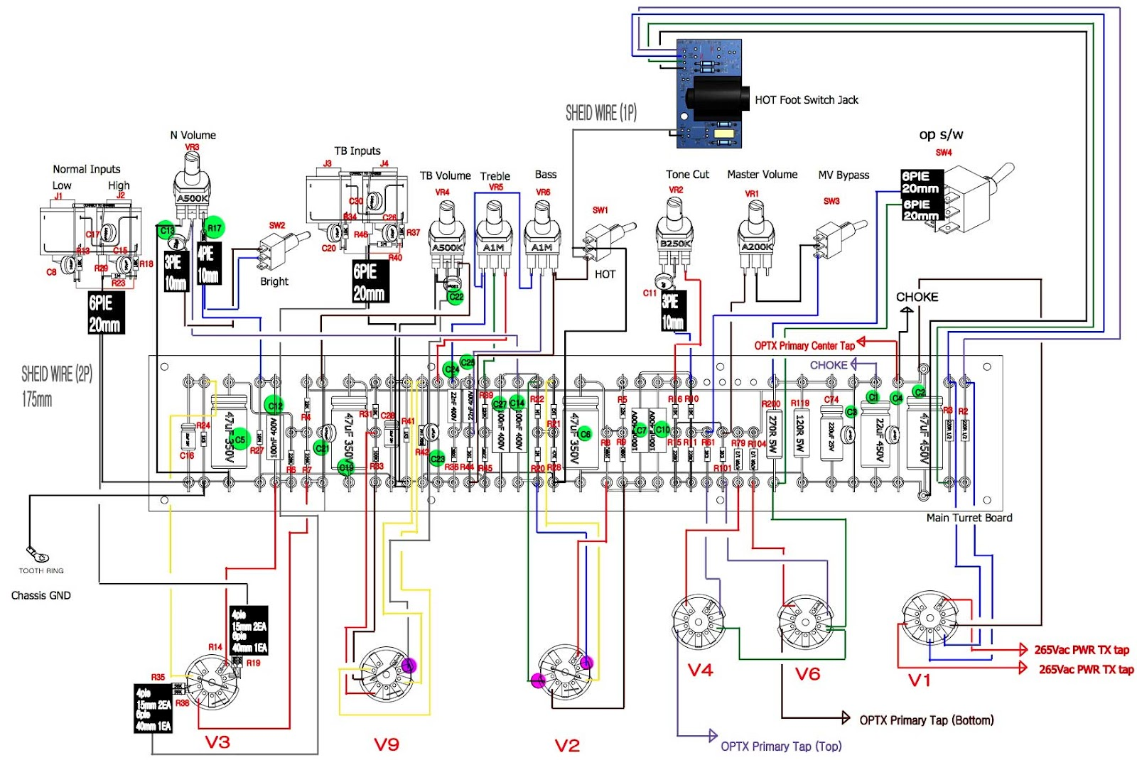 vox wiring diagram vox ac15hw1x schematic and/or service manual keh 2600 speaker wiring diagram #13
