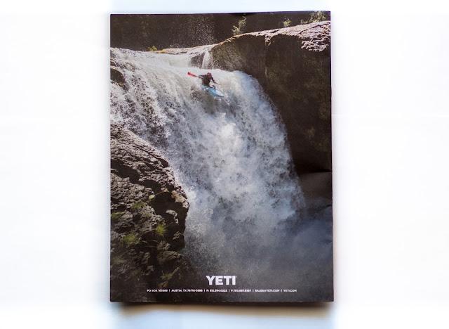 Whitewater kayaking waterfall.