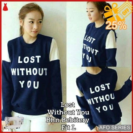 AFO474 Model Fashion Sweater Lost WY Modis Murah BMGShop