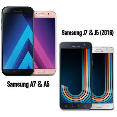 Samsung A7, A5, J7, J5