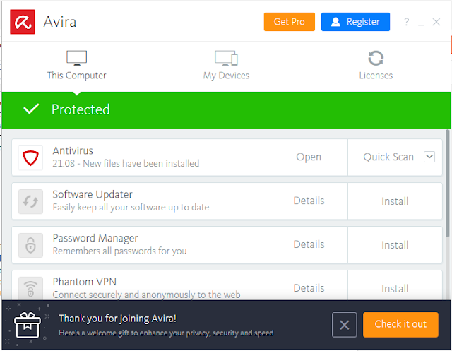 Download Avira Antivirus Pro 2018 v15.0.39.5 Terbaru Full Version