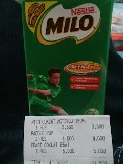 Milo Coklat Activago 190 ml