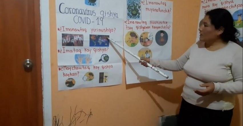 MARLITH NORABUENA PADILLA: Maestra traduce al quechua programa «Aprendo En Casa» para estudiantes de escuela rural