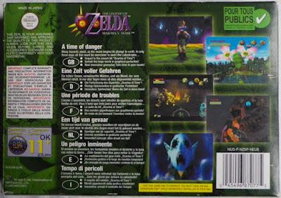 The Legend of Zelda - Majora's Mask - Caja detrás