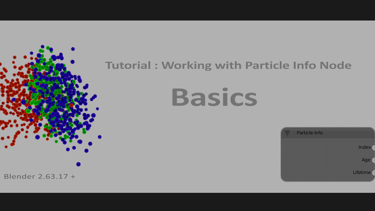 Introduction to Particle info Node in Blender