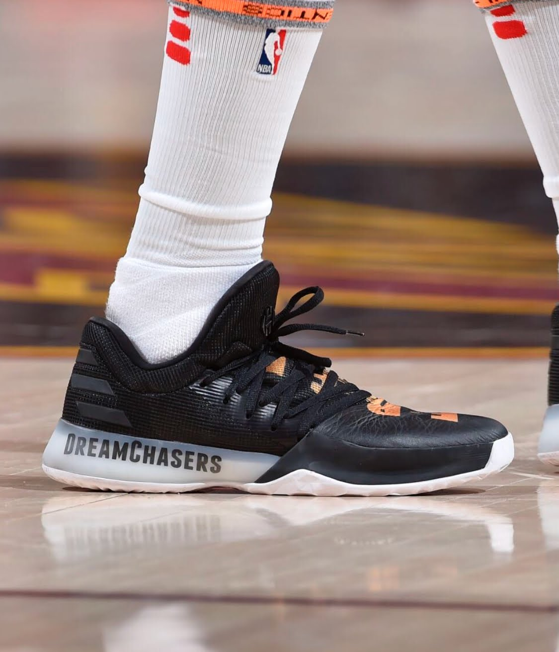 James Harden Gold Shoes: James Harden Free Meek Mill Shoes