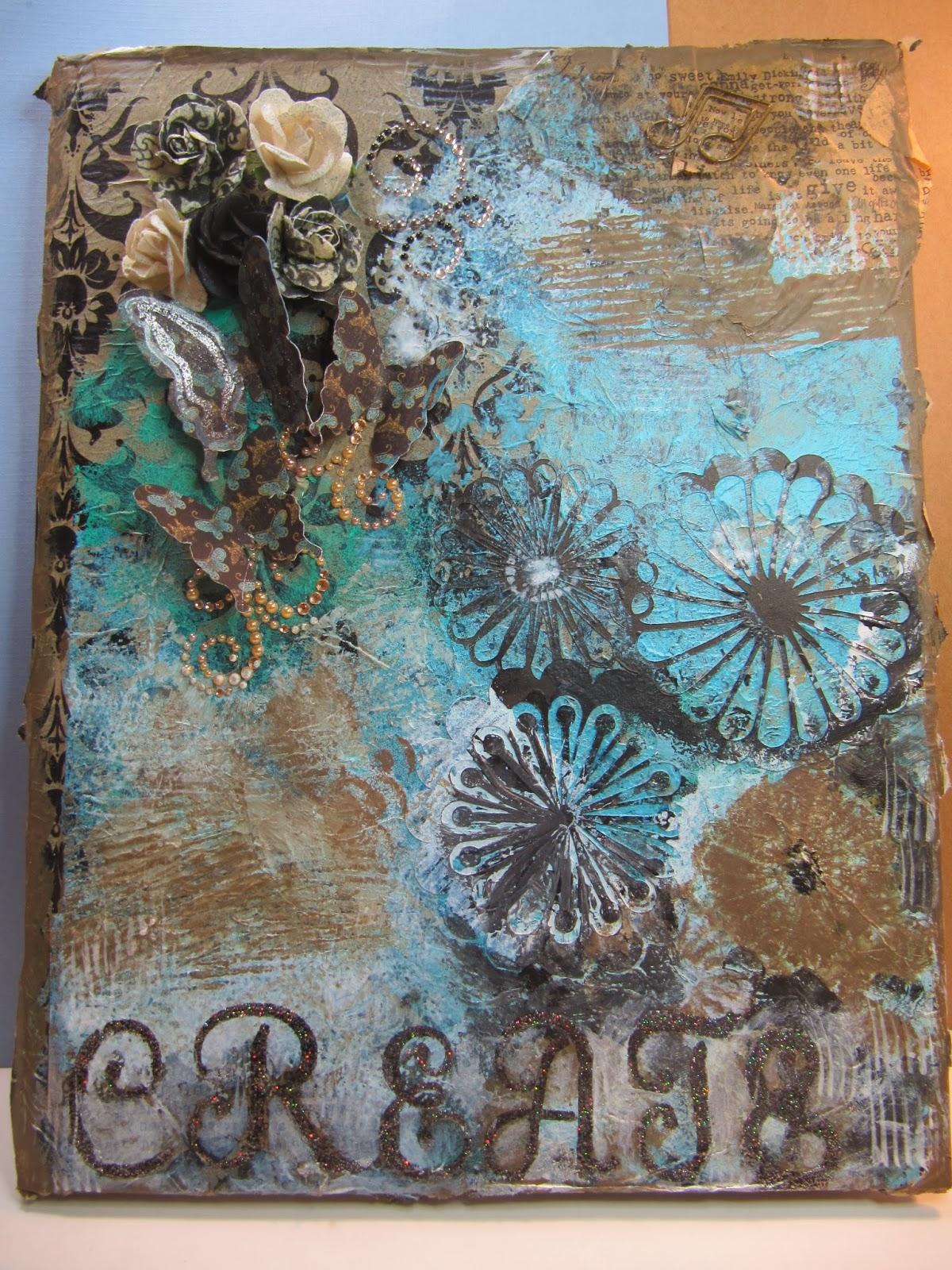 Sunshine Creations and Crafts: Mixed Media Monday - Art ...