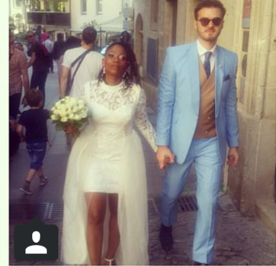 POPULAR OAP TOSYN BUCKNOR HAD HER WHITE WEDDING IN FRANCE WITH HUSBAND  Aurelien Boyer,