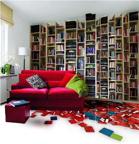 living room 3D floor art designs
