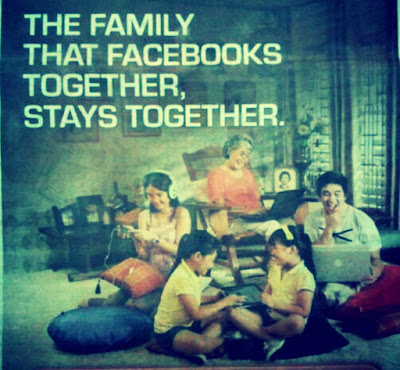 Picture of whole family on Facebook