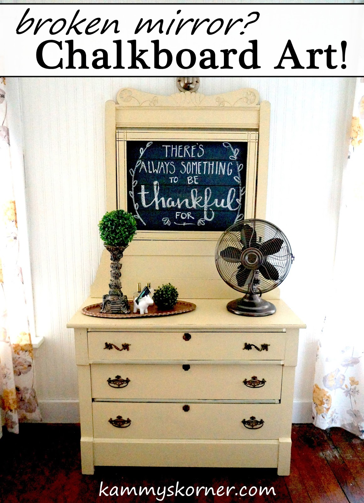 When The Mirror Breaks Beautiful Antique Dresser Makeover