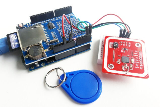 Data Logger Shield Arduino com RFID PN532
