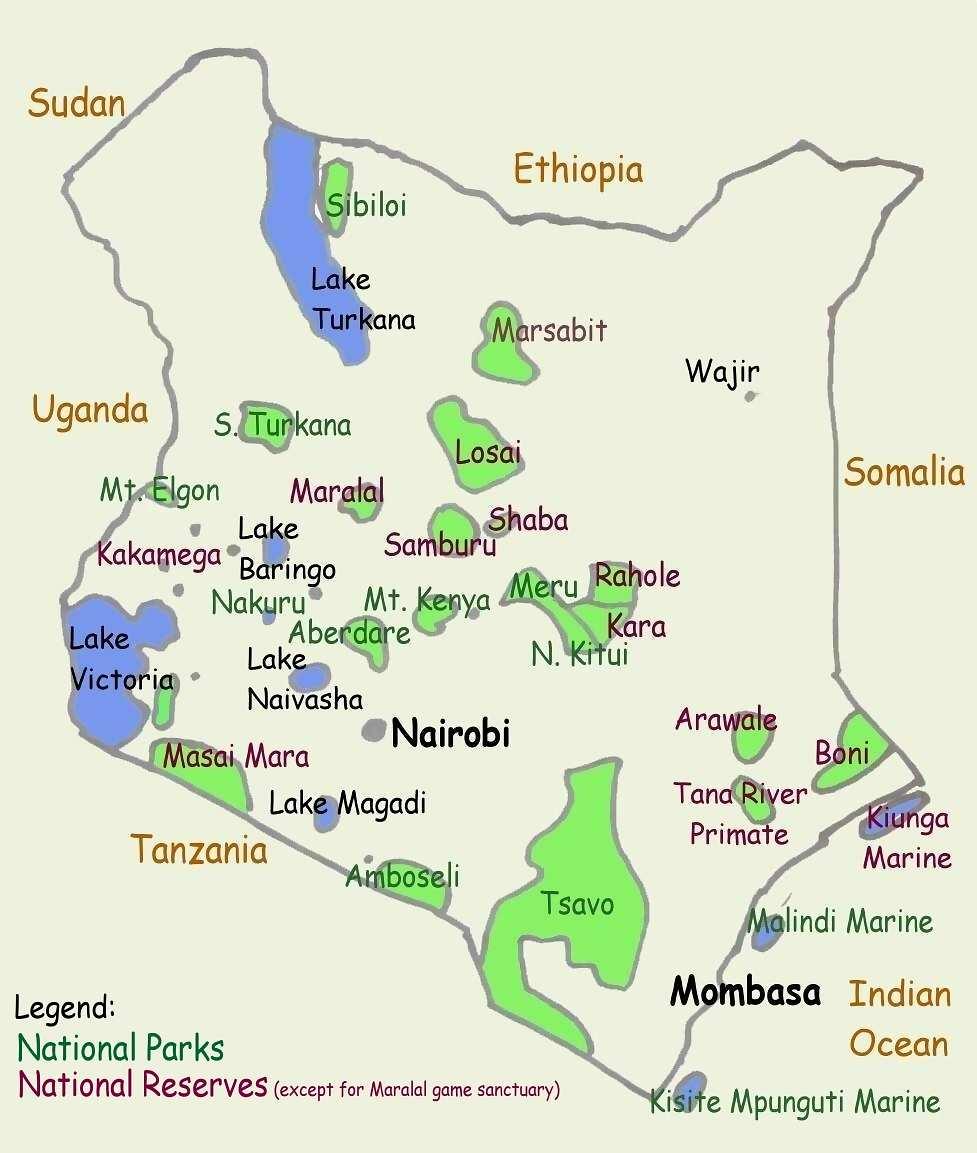 Quênia | Mapas Geográficos do Quênia