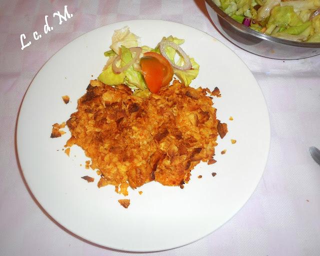 filetto di pollo con panatura di patatine in busta