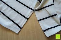 Öffnung: Yidarton Damen Crew Neck Base Gestreiftes Kurz Spaltung Casual T-Shirt Top Bluse