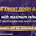 KKR Contest Win Daily 3 Winner Merchandise and Free Ticket